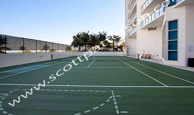 Ocean Palms Hollywood Florida Luxury Condo Tennis Court