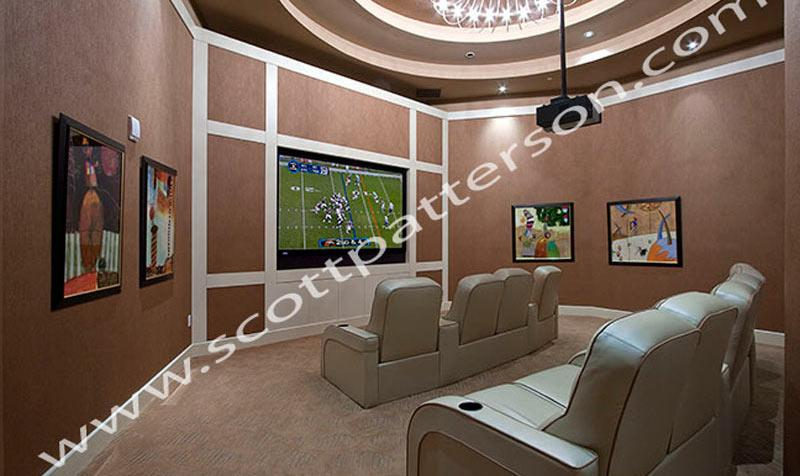 Ocean Palms Hollywood Florida Luxury Condo Media Room