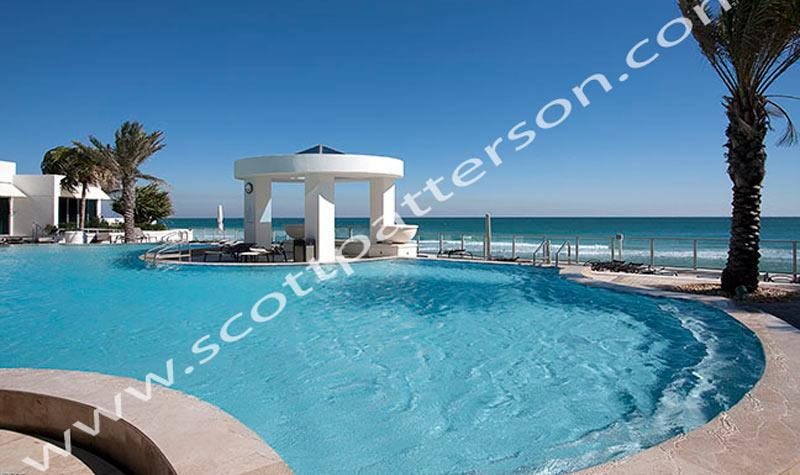 Ocean Palms Hollywood Florida Luxury  Condo Pool View